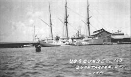 USS Cumberland, Guantanamo Bay, Cuba, 1915