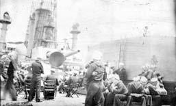 Shipboard, USS Cumberland, Cuba